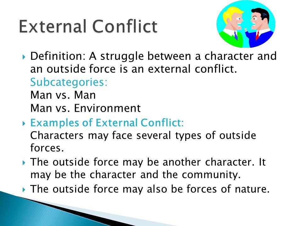 man vs nature conflict definition