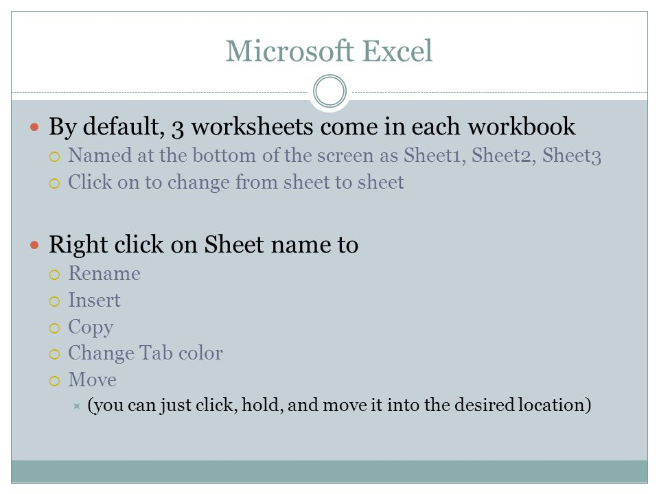 Microsoft Excel. Excel specializes in creating and designing ...