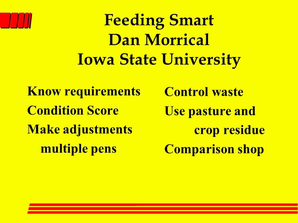 Feeding Smart Dan Morrical Iowa State University Know