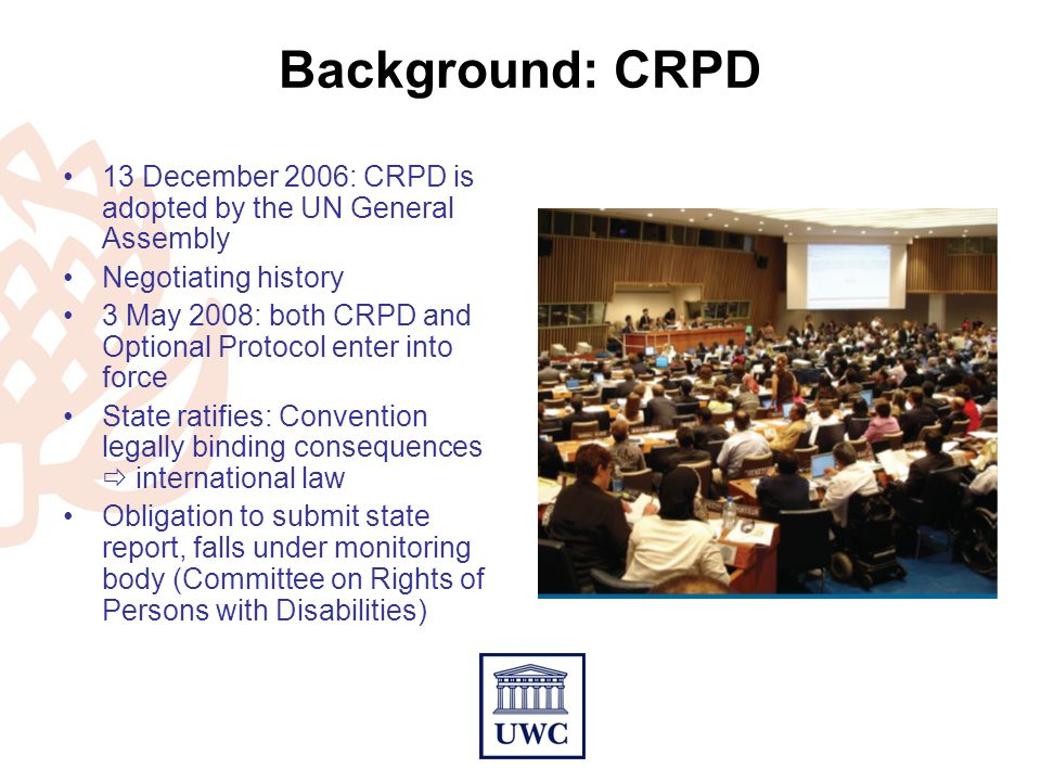 COMPLYING WITH THE UN CONVENTION ON RIGHTS OF PERSONS