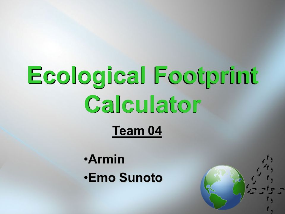 1 Ecological Footprint Calculator Arminarmin Emo Sunotoemo Sunoto Team 04