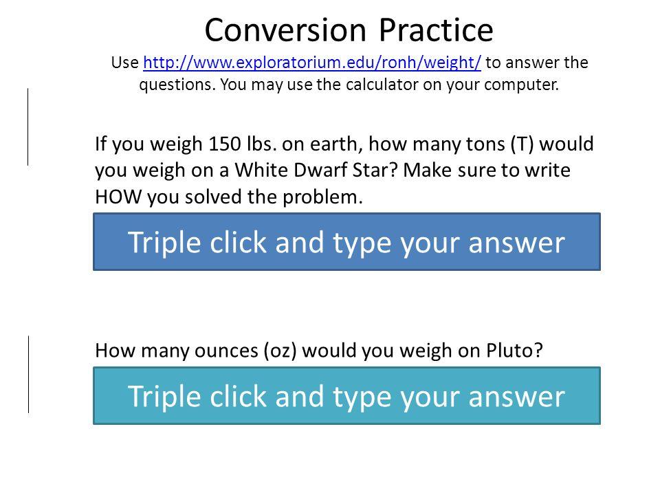 5 Conversion