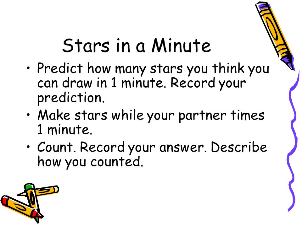 Stars in a Minute Predict how many stars you think you can draw in 1 minute.