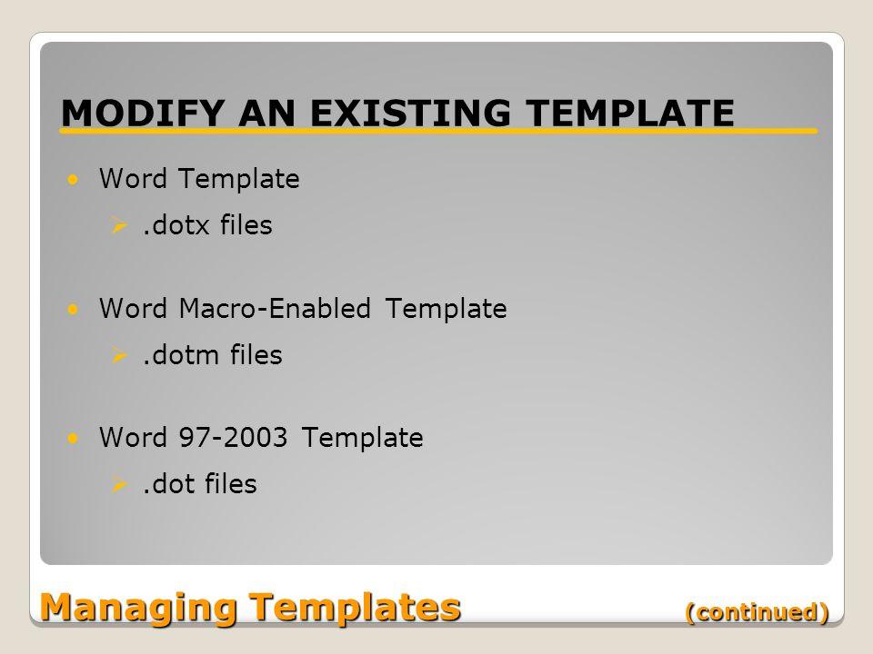 Working With Templates Lesson 6 Skills Matrix Skill Matrix Skill