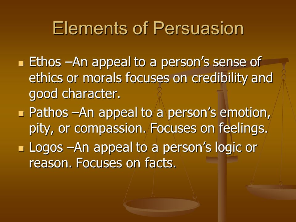 1 Elements Of Persuasion