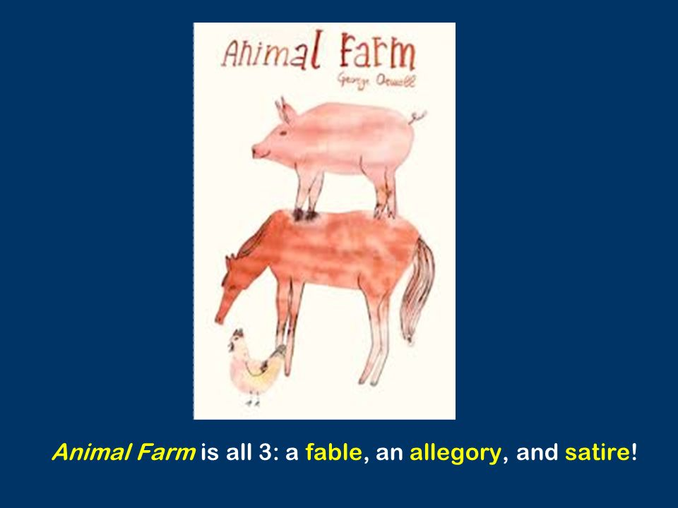 why would animal farm best be considered an allegory