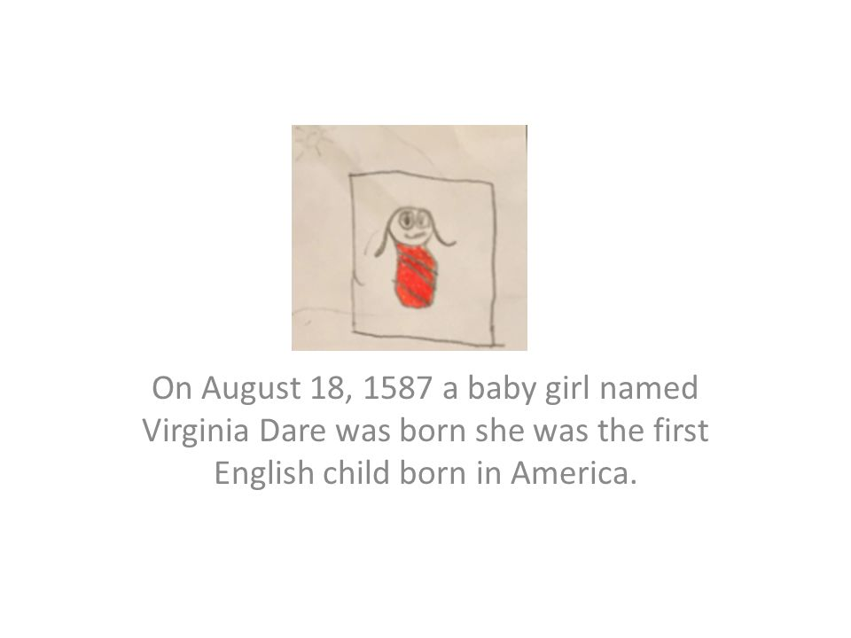 who was the first english child born in america