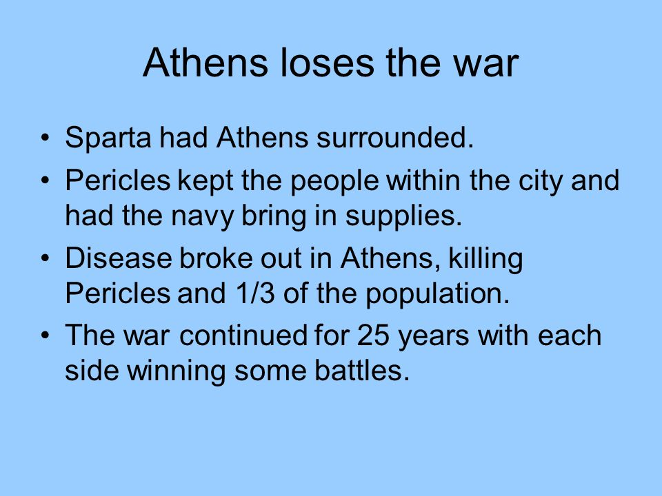why did athens lose the peloponnesian war