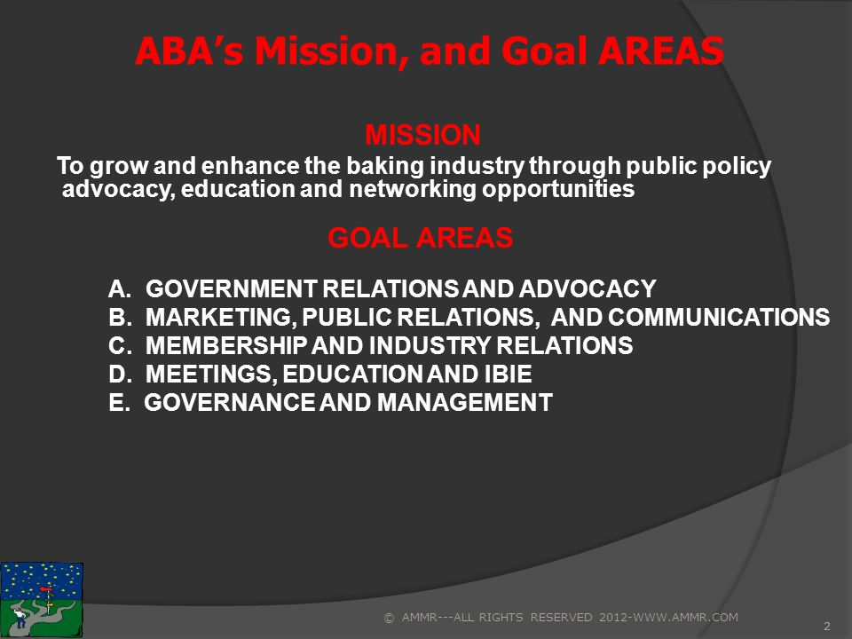 1 ABA's Core Purpose/Vision Elements TAB 4a CORE PURPOSE ELEMENTS
