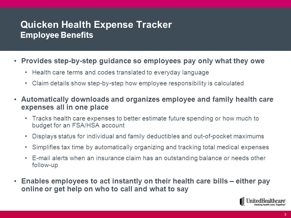 quicken health expense tracker with consumer directed health plan