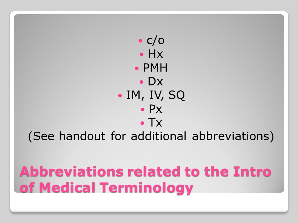 Introduction to Medical Terminology TEST 1-1  Word Parts are