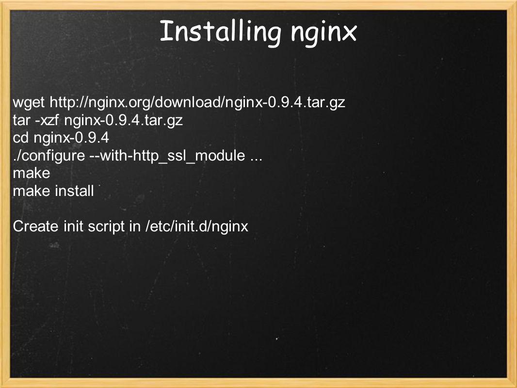 Linux Network Servers nginx, PHP-FPM, MySQL Rostislav