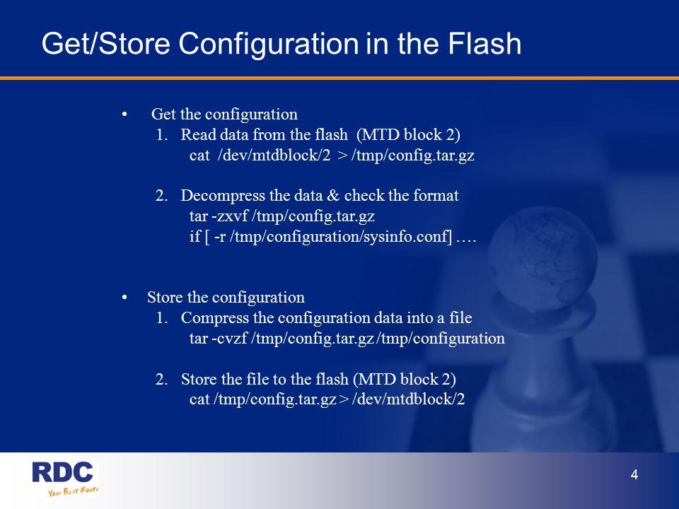 RDC R32xx/HB30x Web UI & System Configuration Design March  23, 2006