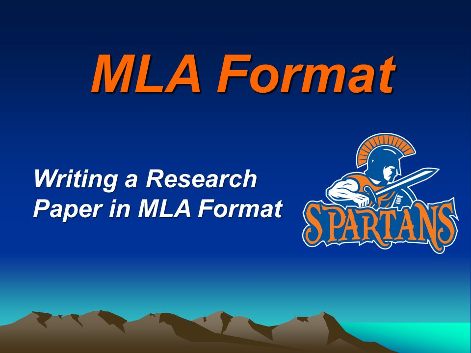 mla format writing a research paper in mla format ppt download