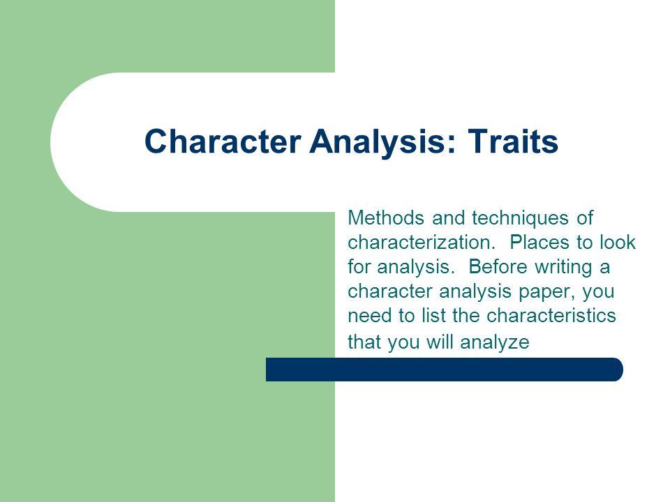 writing a characterization
