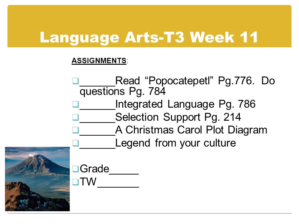 7 th grade independent study assignments due march may 26 trimester 15 language ccuart Choice Image