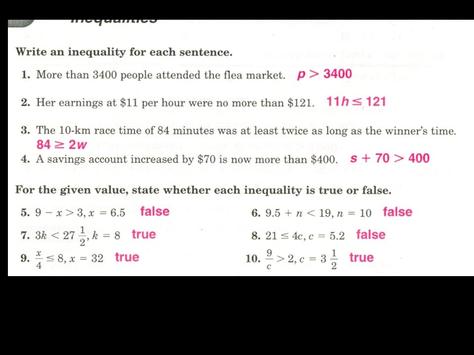 Solving Multi Step Inequalities Section 76 Solving Multi Step