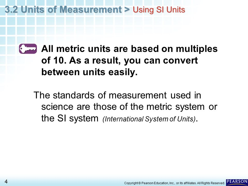 3 2 Units of Measurement > 1 Copyright © Pearson Education