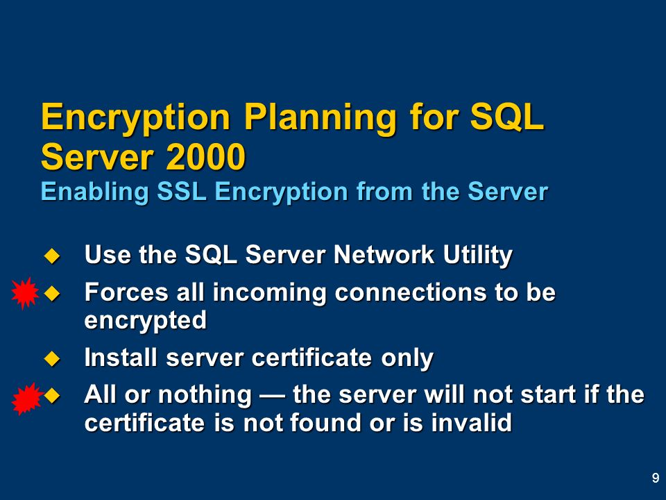 Using Encryption With Microsoft Sql Server 2000 Kevin Mcdonnell