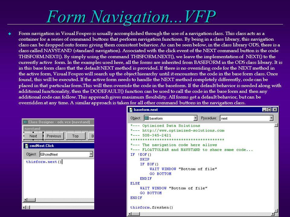 1 Visual Foxpro and Visual Basic How do they compare as