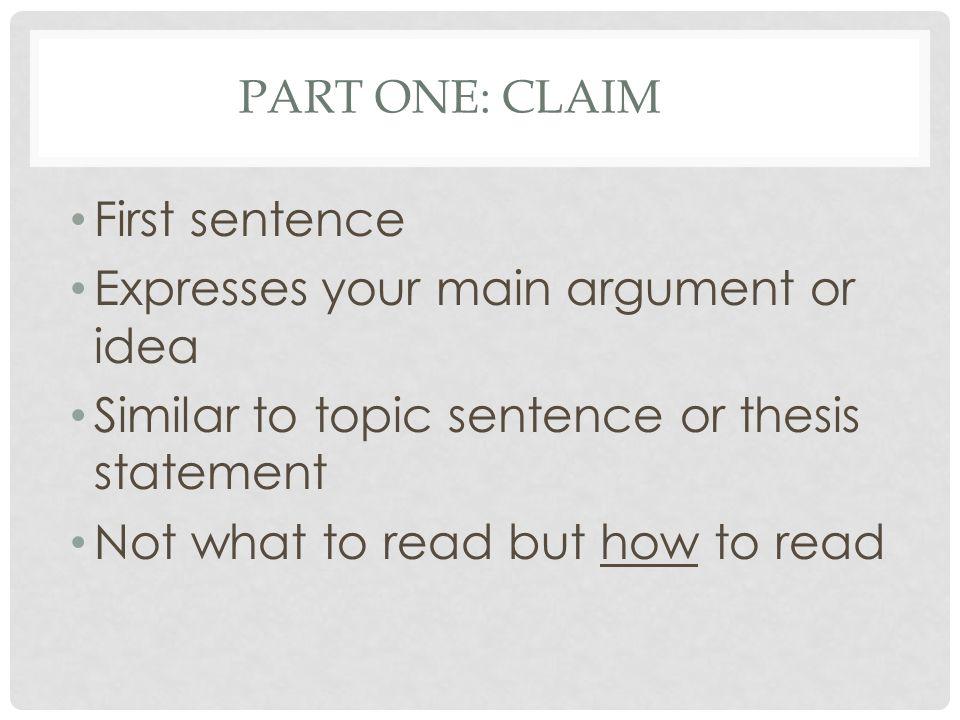 argumentative paragraph structure