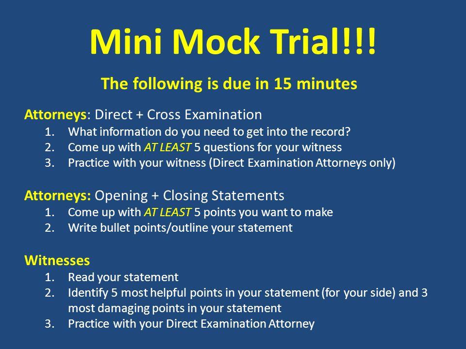 state v randall agenda may 8 2013 today s topics mini mock