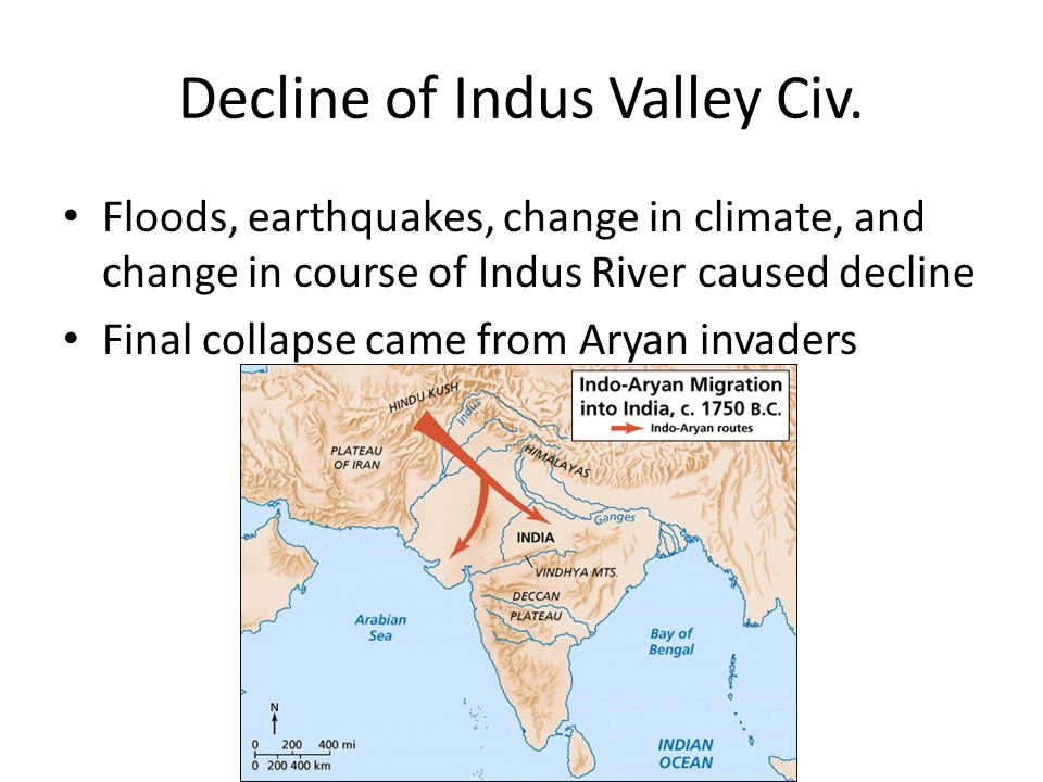 Decline of Indus Valley Civ.