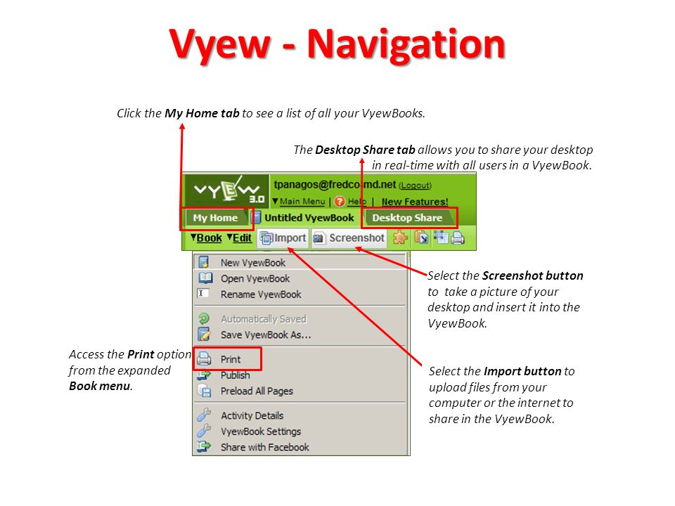Vyew - Basic Tools Basic whiteboard tools are located on the