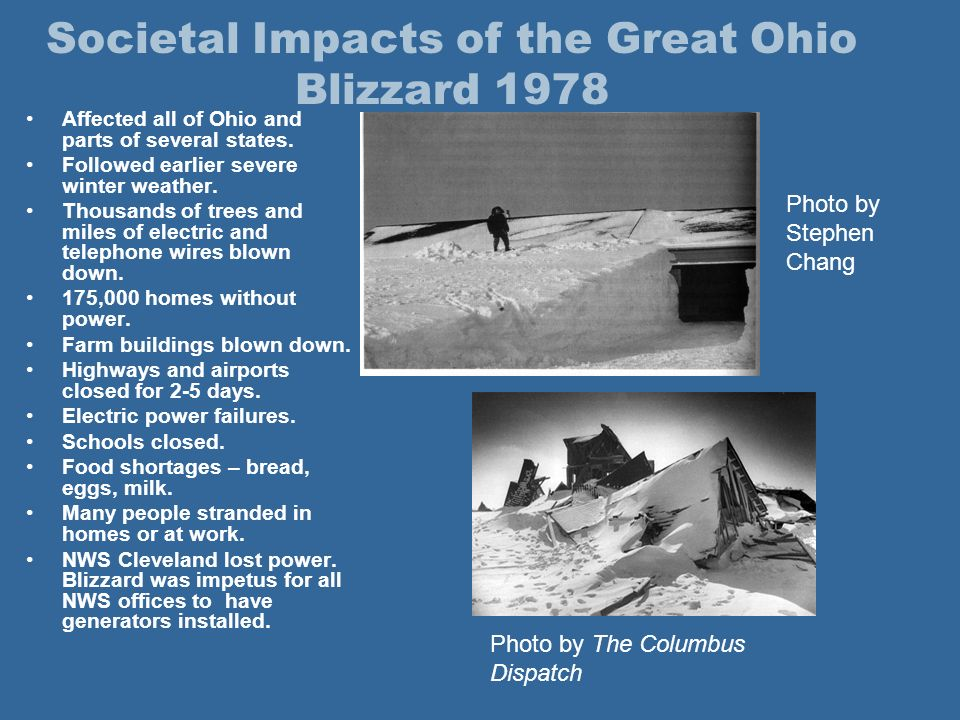 The Great Ohio Blizzard of 1978 Storm Review and Assessment of ...