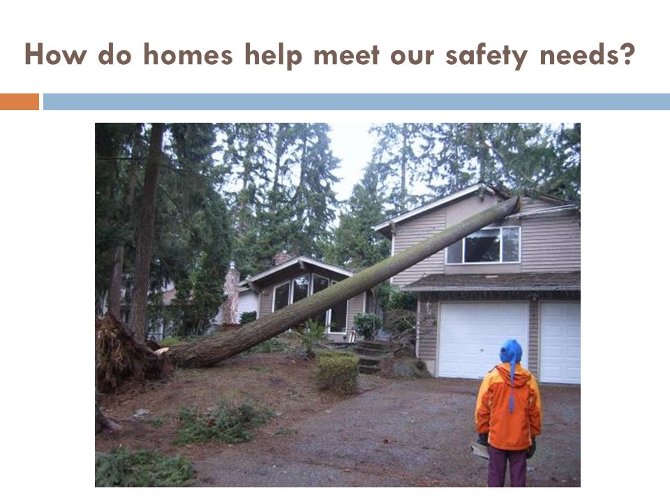 How do homes help meet our safety needs
