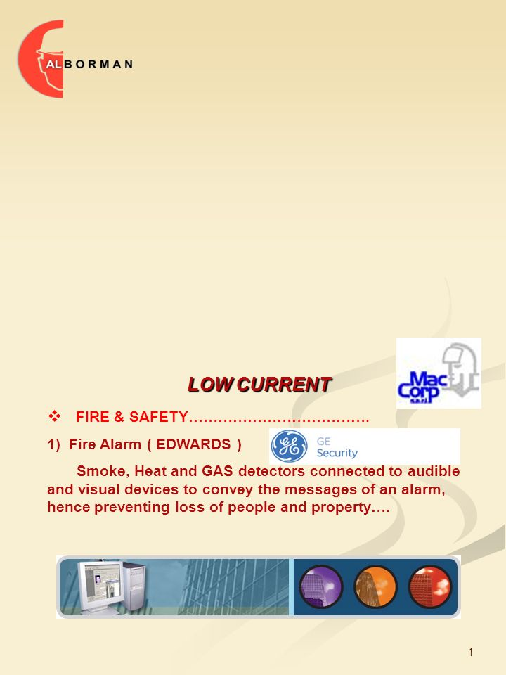 1 LOW CURRENT  FIRE & SAFETY……………………………….