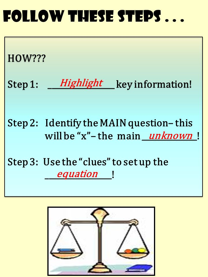 1.Solve the following multiplication two-step equations: 2.Solve the ...