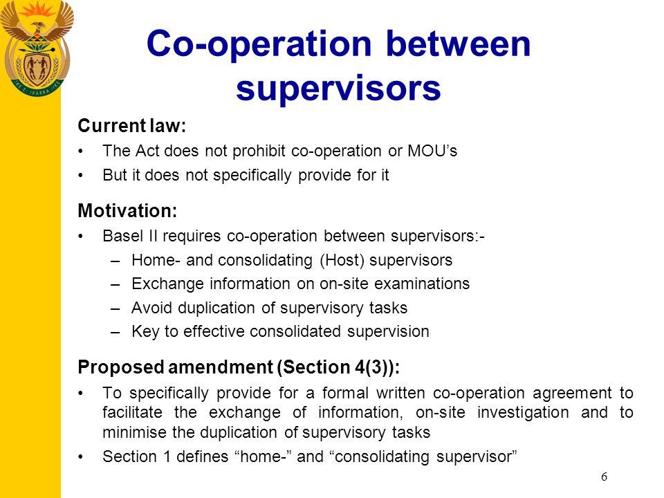 Define consolidating supervisor
