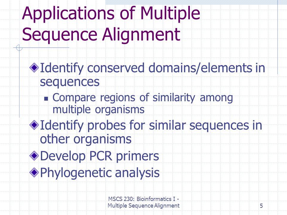Multiple alignment.
