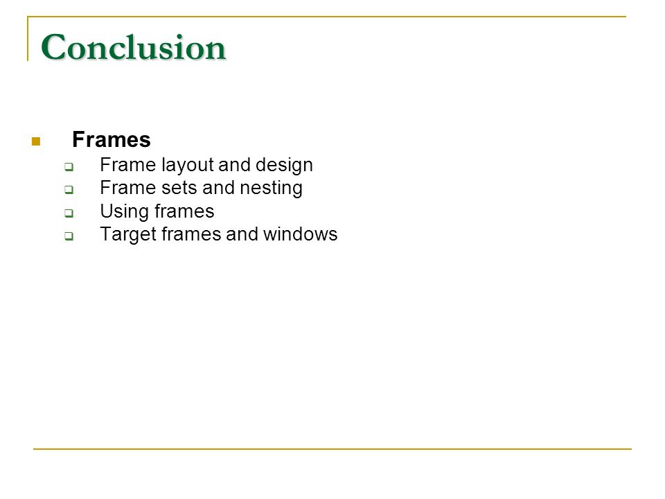 Frames 2 nd March. Write the code for this using tables and using ...
