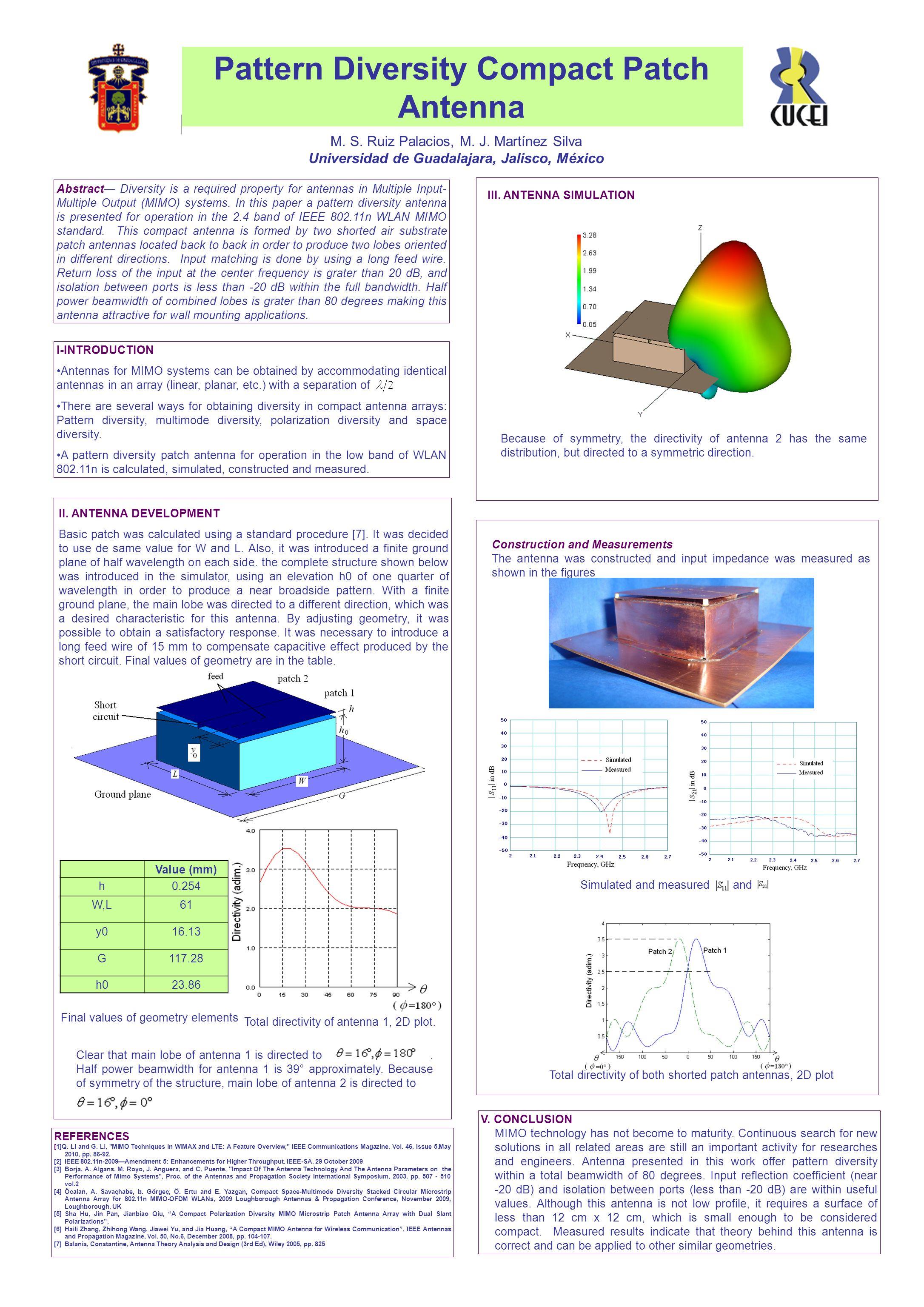 Pattern Diversity Compact Patch Antenna M S Ruiz Palacios J Jina Wiring Circuit Diagram 1
