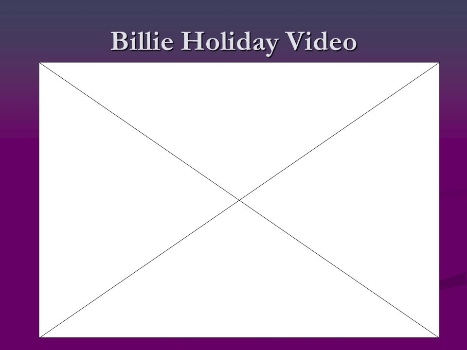 Billie Holiday Video