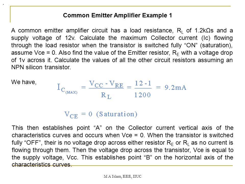 BJT Bipolar Junction Transistors (BJT) EEE 3607 Dr  Mohammad Aminul