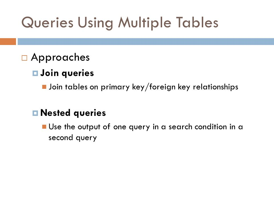 Advanced Sql Select Queries Cs 260 Database Systems Ppt Download