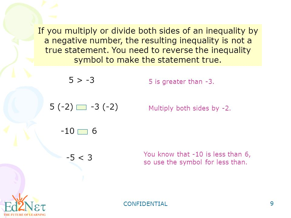 Confidential 1 Solving Inequalities By Multiplying Or Dividing