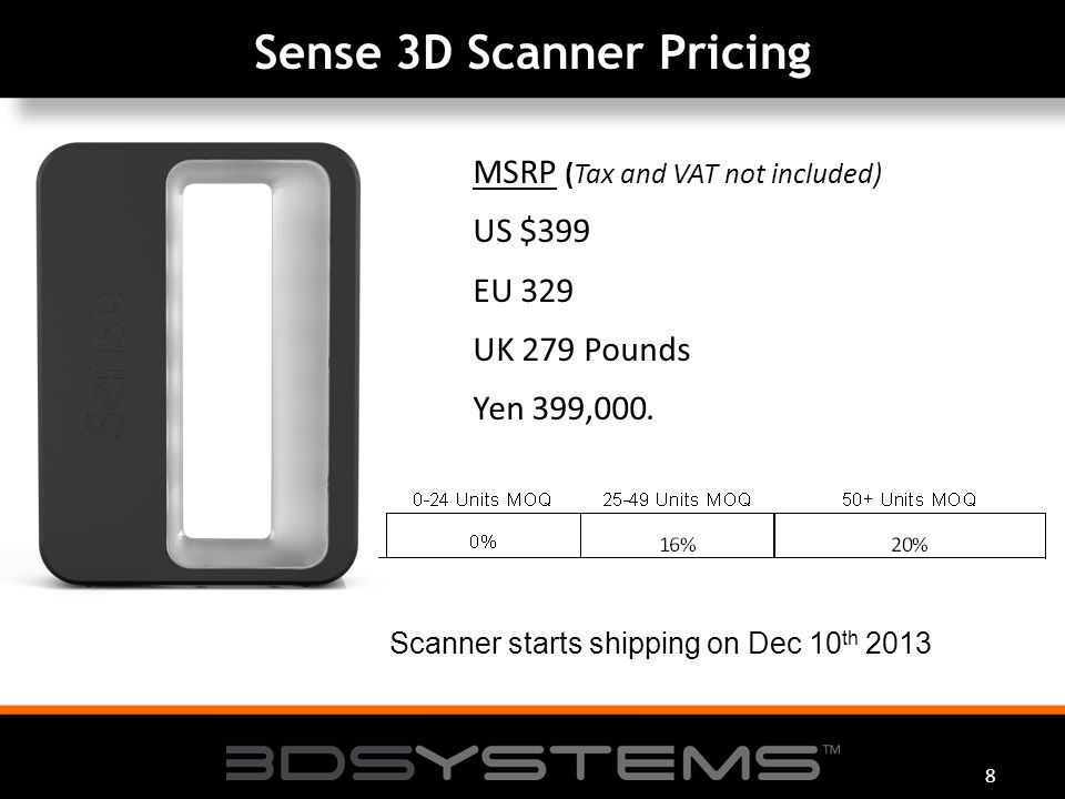 3D Systems Sense 3D Scanner™ Sense 3D Scanner™ Easy to ScanEasy to