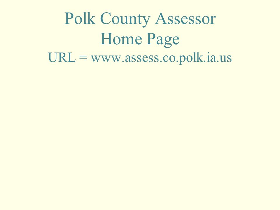 Web Tutorial Using The Assessor S Site May 27 Ppt Download