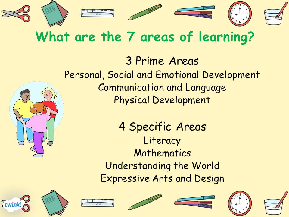 7 areas of learning