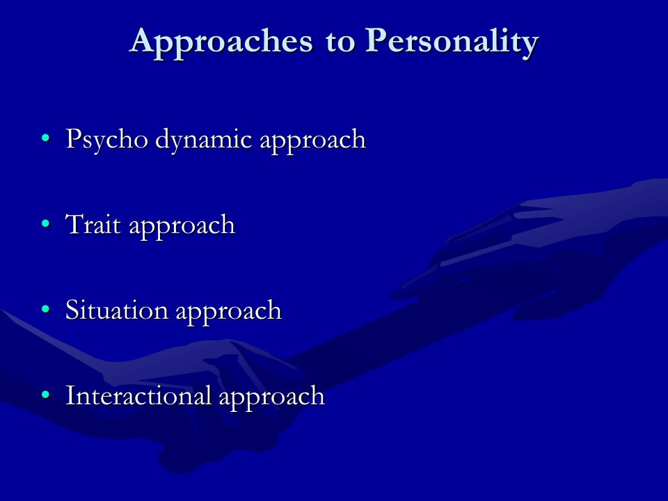 dynamic approaches to personality