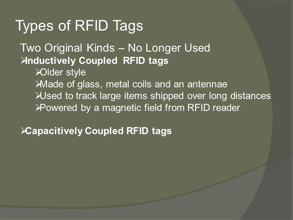 RFID: Radio Frequency Identification Amanda Di Maso Shreya