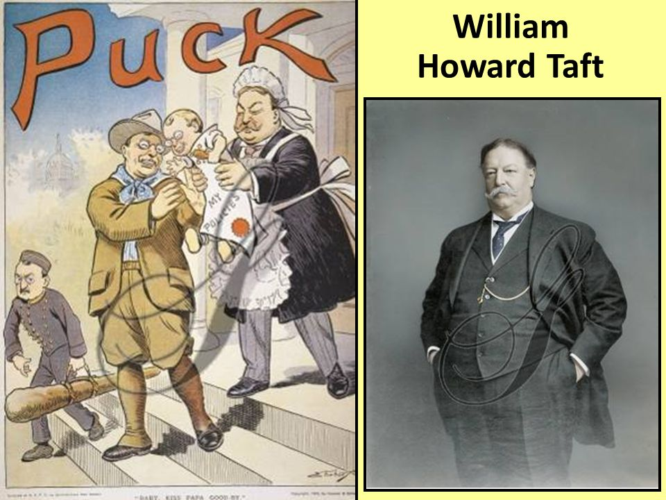 When Roosevelt decided not to run for re-election in 1908, his successor to the presidency was Republican William Howard Taft William Howard Taft
