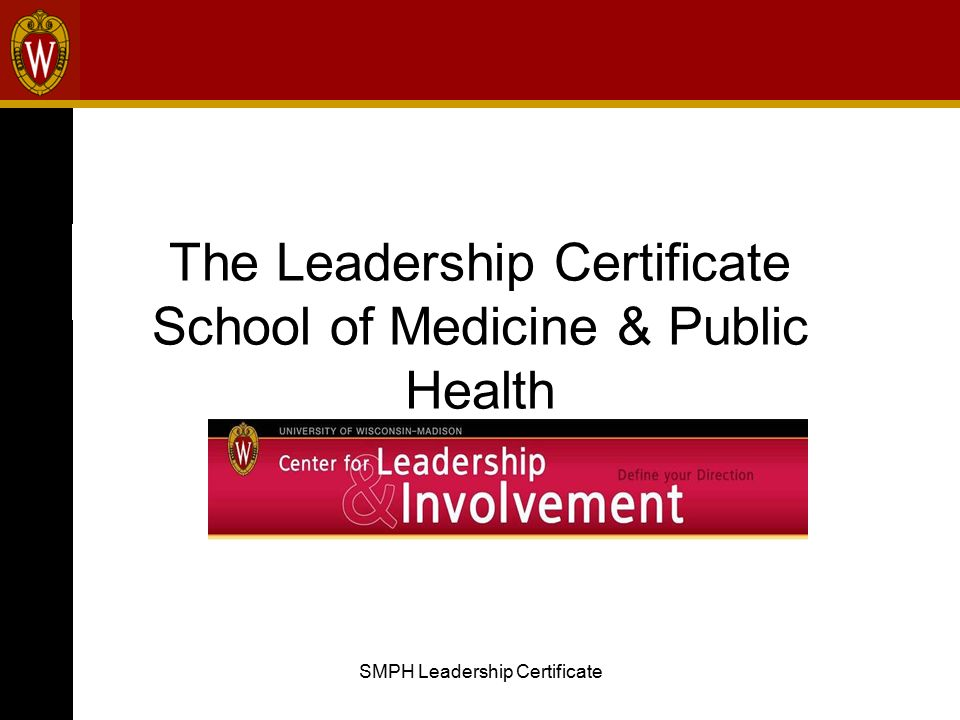 SMPH Leadership Certificate The Leadership Certificate School of ...