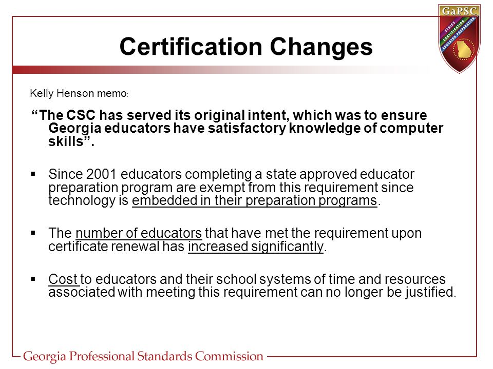 certification certification updates. highlights recent certification ...