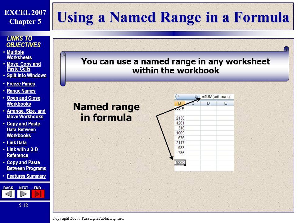 LINKS TO OBJECTIVES Multiple Worksheets Multiple Worksheets Move