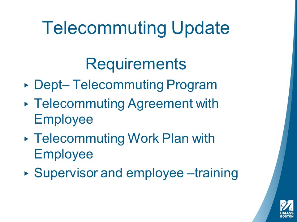 Telecommuting Update Flexible Work Opportunity Non Faculty